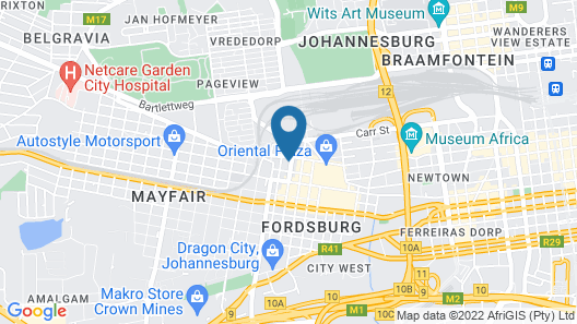 Fordsburg Inn Hotel Map