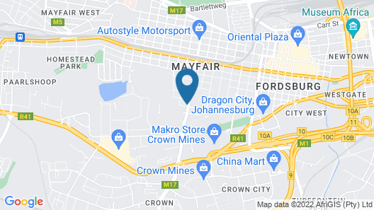 Palm Continental Hotel Johannesburg Map