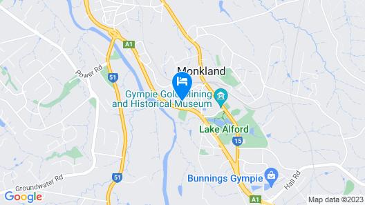 Fox Glenn Motor Inn Map