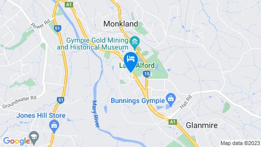 Great Eastern Motor Inn, Gympie Map