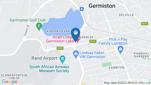 Road Lodge Germiston Lake Map