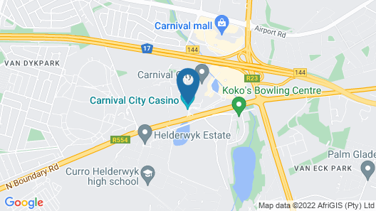 Road Lodge Carnival City Map