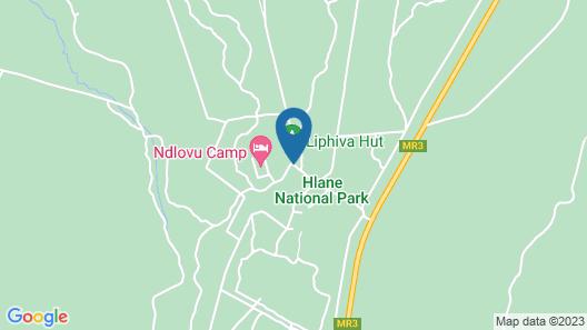 Hlane Royal National Park - Caravan Park Map
