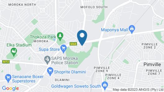Ekuthuleni Guest House - Soweto Map