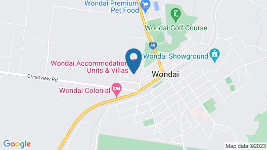 Wondai Accommodation Units and Villas Map