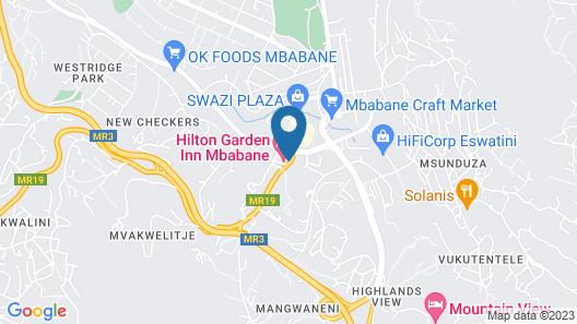 Hilton Garden Inn Mbabane Map