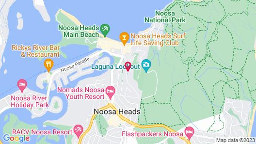 Peppers Noosa Resort and Villas Map