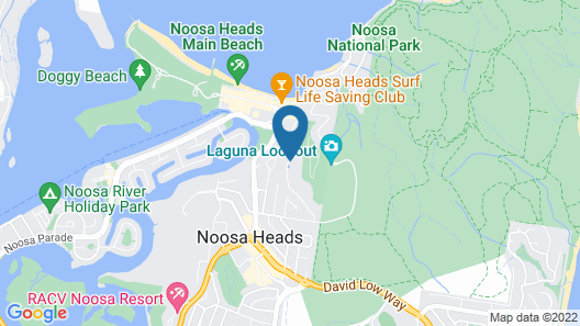 Peppers Noosa Resort and Villas Map