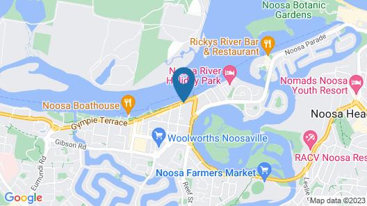 Noosa Outrigger Beach Resort Map