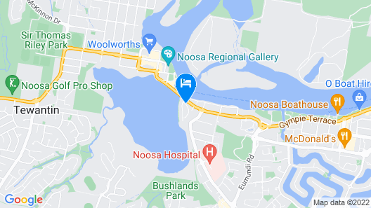 Noosa Lakes Resort Map