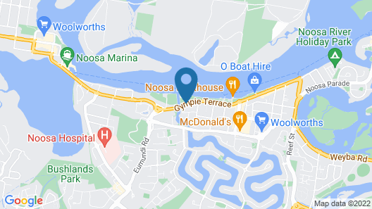 Noosa Sun Motel Map