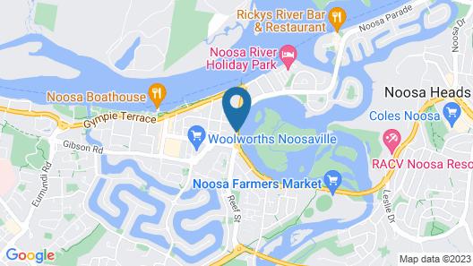 Noosa Gardens Riverside Resort Map