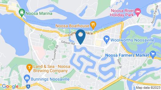 Noosa Entrance Waterfront Resort Map