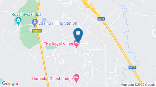 The Royal Villas Swaziland Map