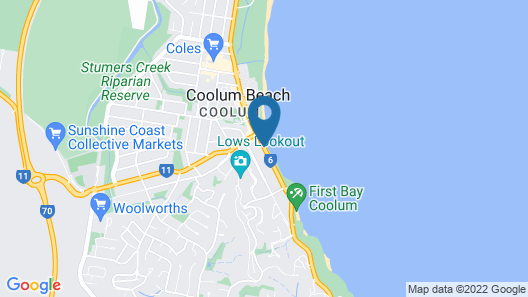 Beach Retreat Coolum Map
