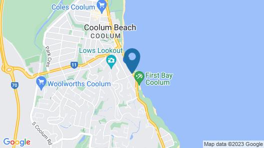 Pandanus Coolum Beach Map