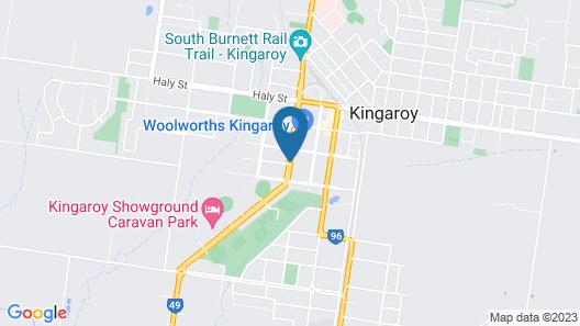 Room Motels Kingaroy Map