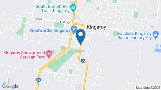 Burke and Wills Motor Inn Map