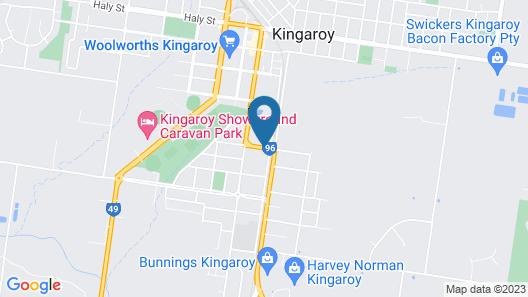 Kingaroy Country Motel Map