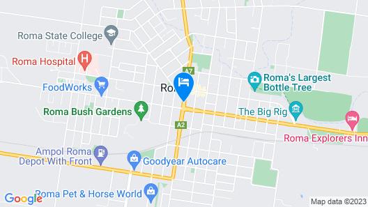 Mandalay Motel Map
