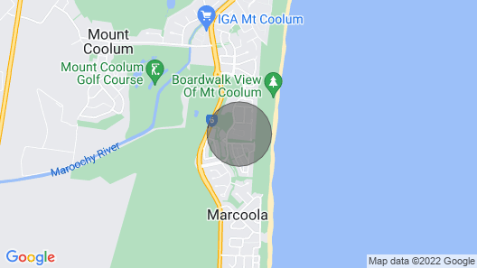 Zeby's Beach Break - Located at Mount Coolum Map
