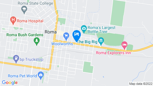 Roma Central Motel Map