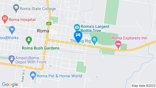 Roma Motel Map