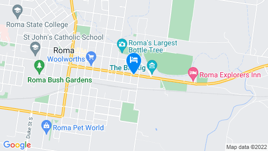 Best Western Bungil Creek Motel Map