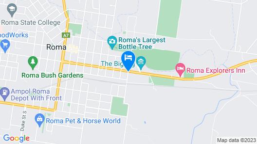 Roma Aussie Tourist Park Map