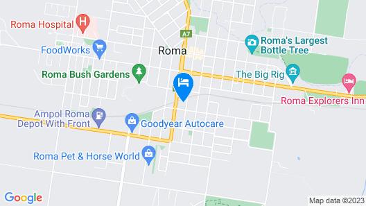Roma Mid Town Motor Inn Map