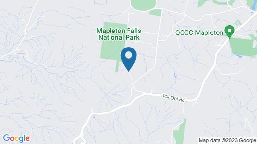 Mapleton Falls Accommodation Map