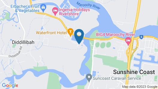 Maroochy River Resort Bungalows Map