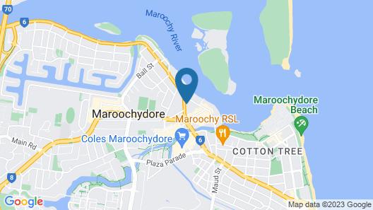 Direct Hotels - The Rhythm on Beach Map