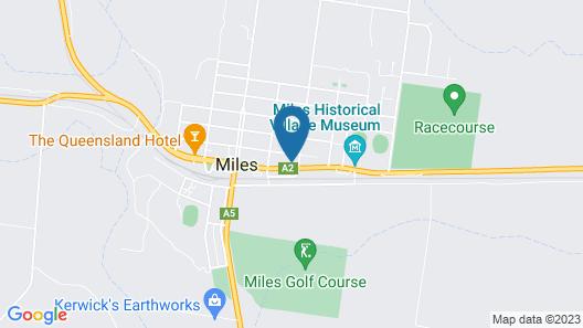 Western Downs Motor Inn Map