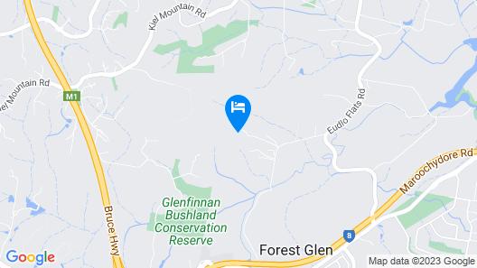 Amytis Gardens Retreat & Spa Sunshine Coast Map
