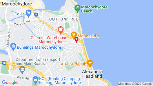 The Sebel Maroochydore Map