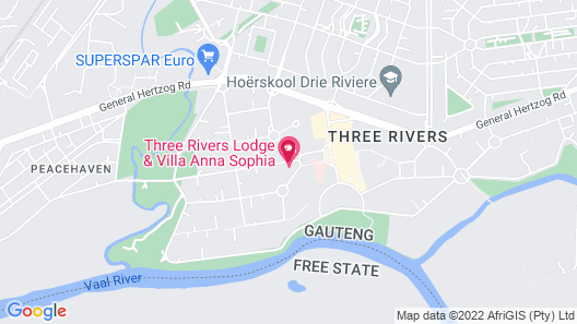 Three Rivers Lodge Map