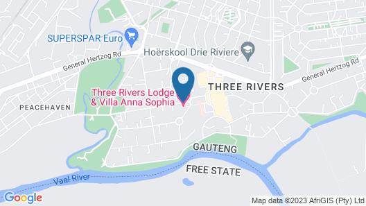 Three Rivers Lodge Map