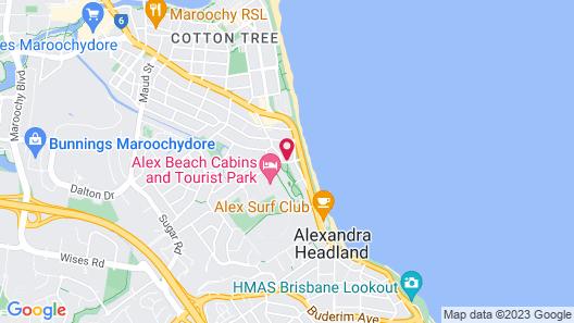 Oaks Sunshine Coast Seaforth Resort Map