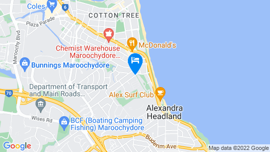 Alex Beach Cabins Map