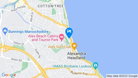Meridian Alex Beach Apartments Map
