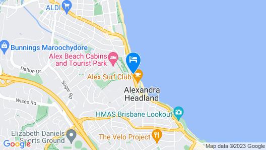 Alex Seaside Resort Map