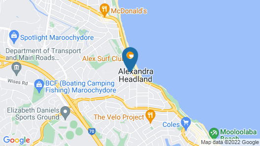 Alex Beach Resort Unit 305 Map