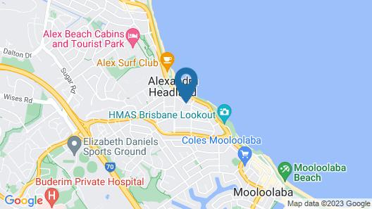 Headland Gardens Holiday Resort Map