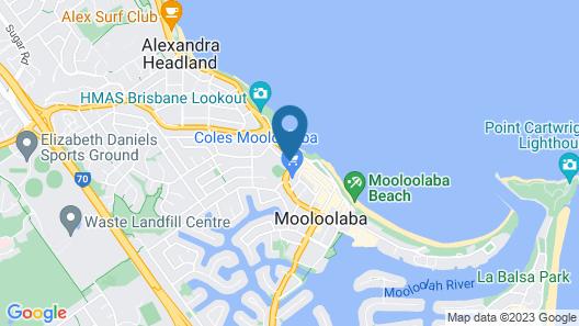 Raffles Mooloolaba Map