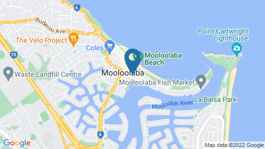 Asiatic Suite at Nautilus Mooloolaba Map