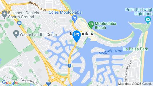 Central Motel Mooloolaba Map