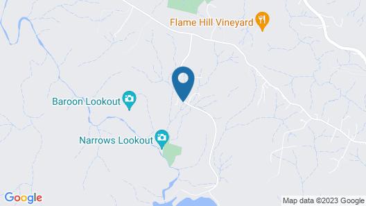Narrows Escape Rainforest Retreat Map
