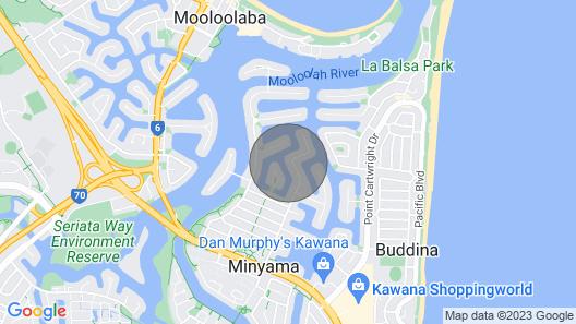 Mulloka Villa. Sunshine Coast - Absolute Waterfront. Private Infinity Pool Map