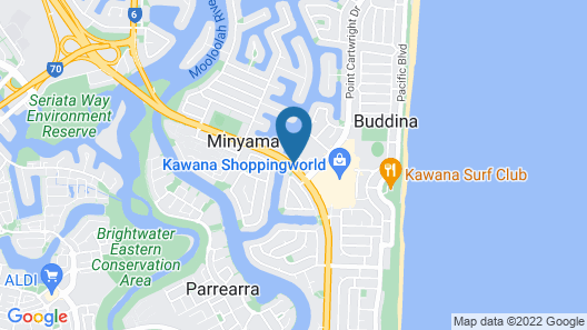 Nightcap at Kawana Waters Hotel Map